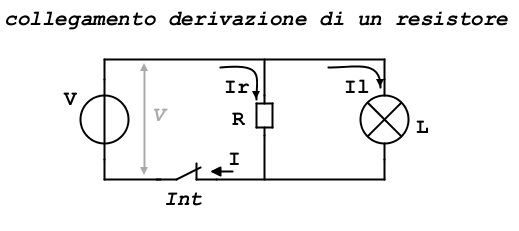 resistore derivazione