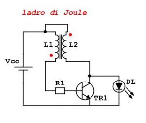 schema elettrico ladro di joule