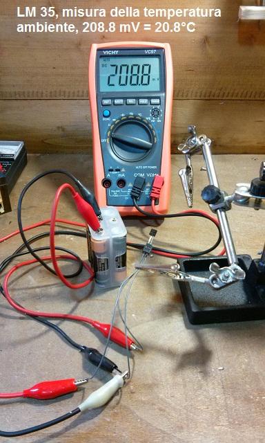LM35 misura temp.ambiente.