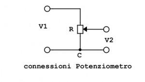 connessione potenziometro