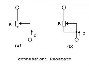connessione reostato