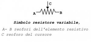 simbolo resistore variabile