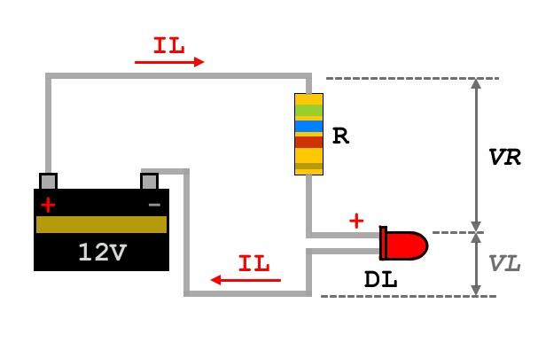 9 diodo led polarizz diretta in pratica