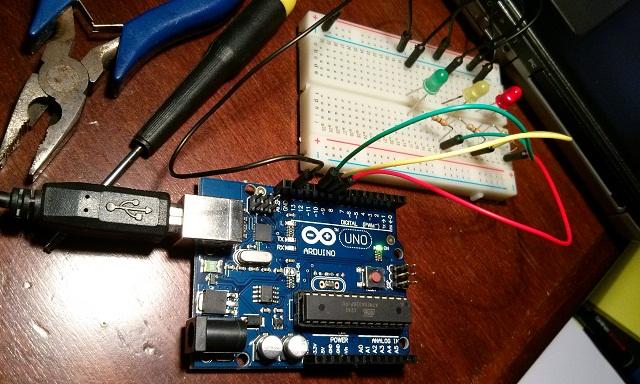 12 Arduino1 3 led