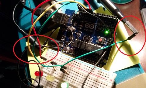 connessione oscilloscopio
