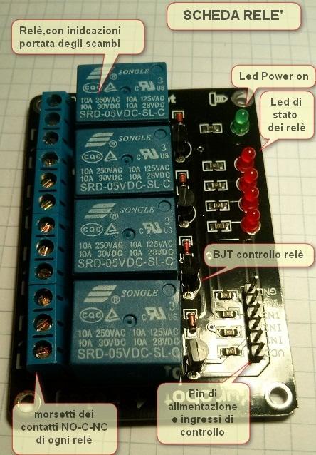 Schema Cablaggio Relè : Modulo relè con sensore crepuscolare