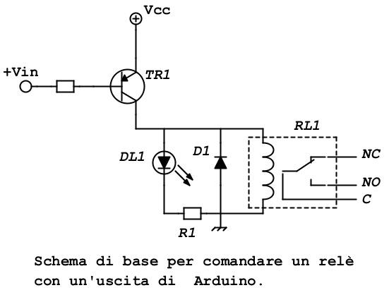 Schema Cablaggio Relè : Scheda di espansione relè con arduino… laboratorio