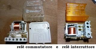 11 relè commutatore e relè interruttore