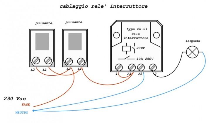 Finder Rele Schemi Elettrici : Come collegare un pulsante easy