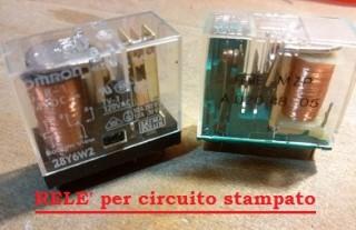 4 relè da circuito stampato