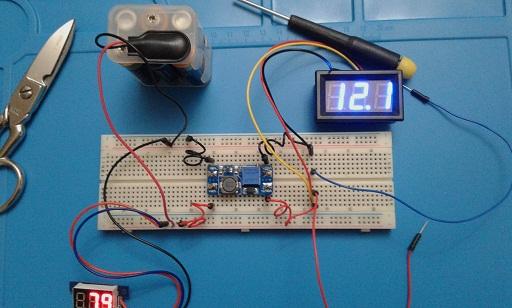 Schema Elettrico Elevatore Di Tensione : Un piccolo convertitore dc dc. laboratorio scolastico